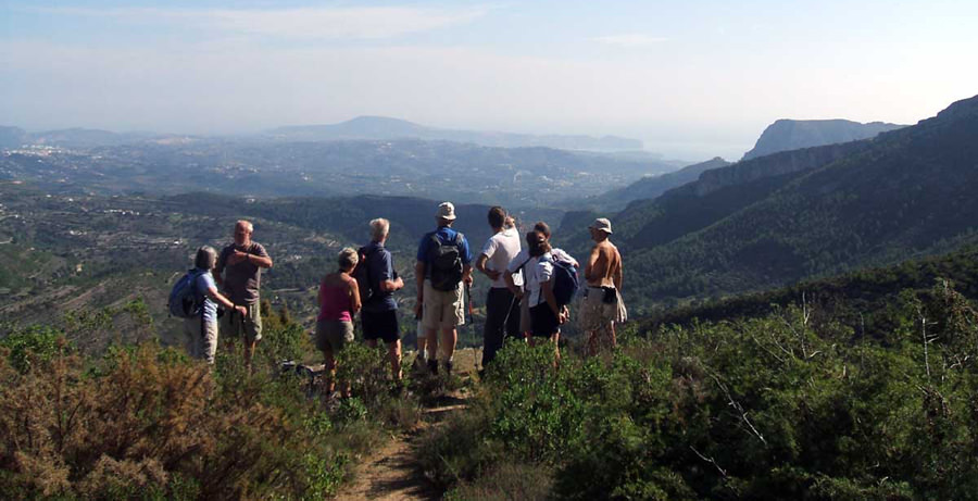 Guided walking holiday on the Costa Blanca