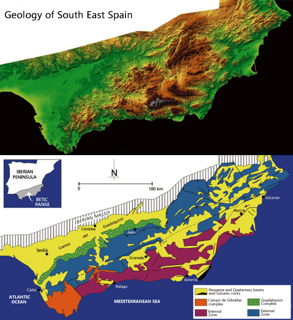 Geological Map Of Spain.Geology Of Alicante How Alicante S Mountains Were Formedwalking